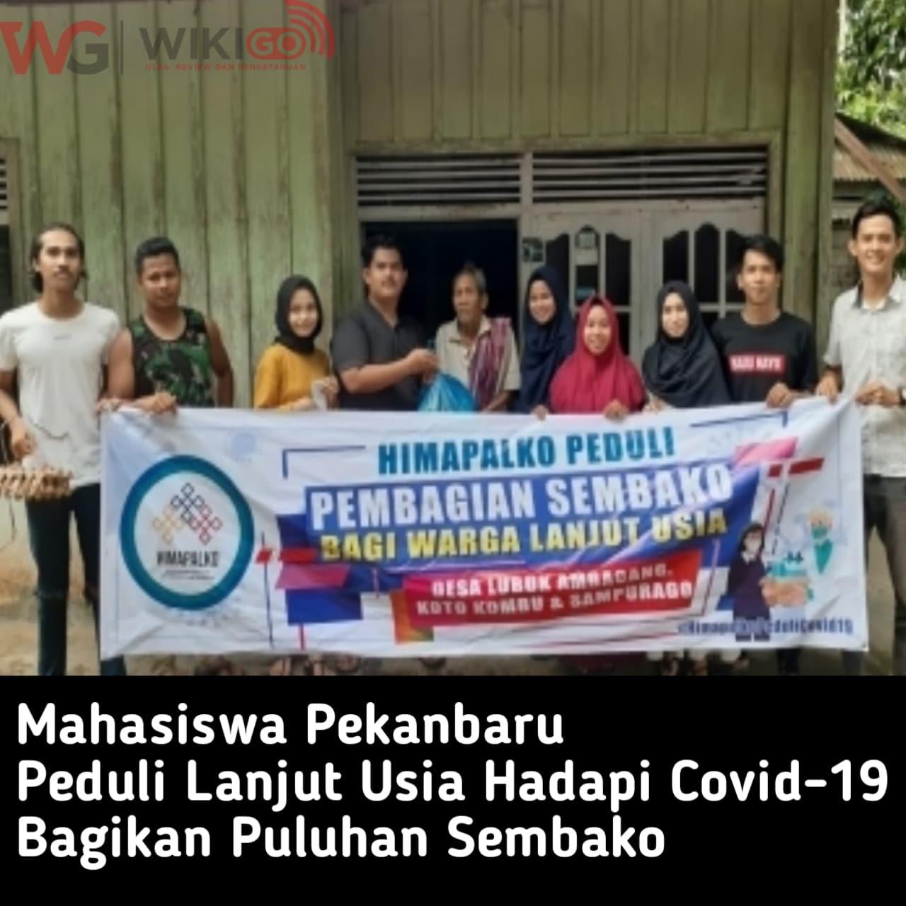 Mahasiswa Pekanbaru peduli Kaum lansia Hadapi Covid-19, Bagikan Sembako