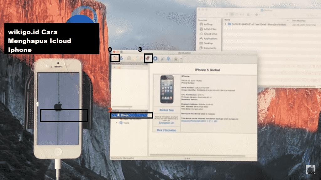 Cara Menghapus akun Icloud Iphone Ipod Tanpa Password