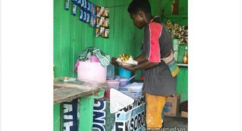 Pria ambil nasi di warung sampai menggunung, Bikin Emosi penjual